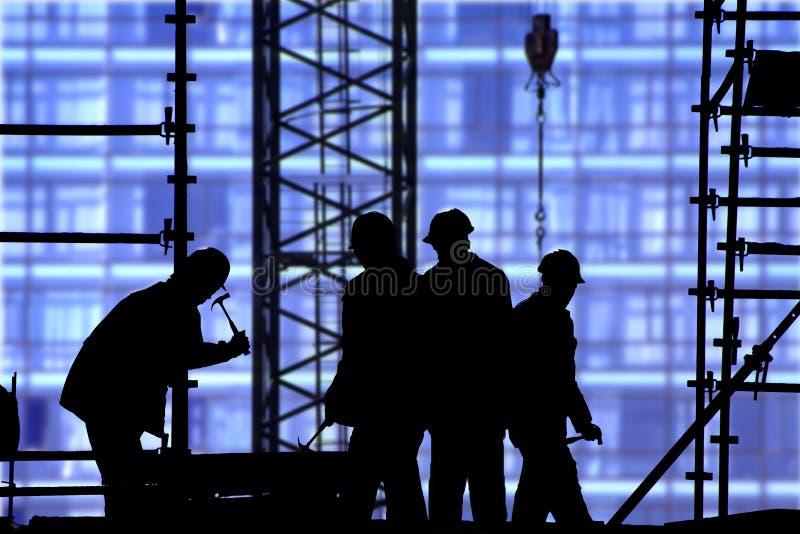 blå konstruktionslokal arkivfoton