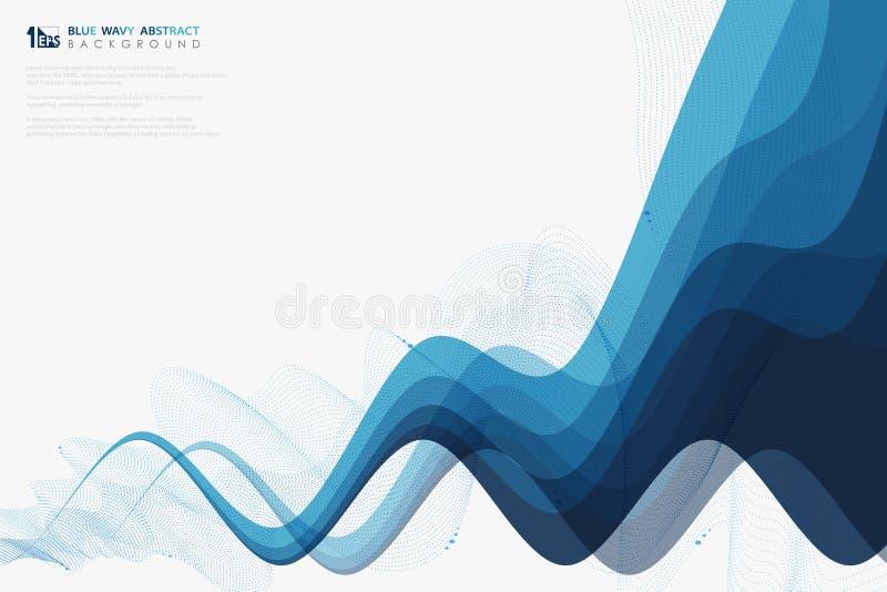 Blå krabb linje bakgrund för abstrakt vetenskap för techgarneringbroschyr Illustrationvektor eps10 royaltyfri illustrationer