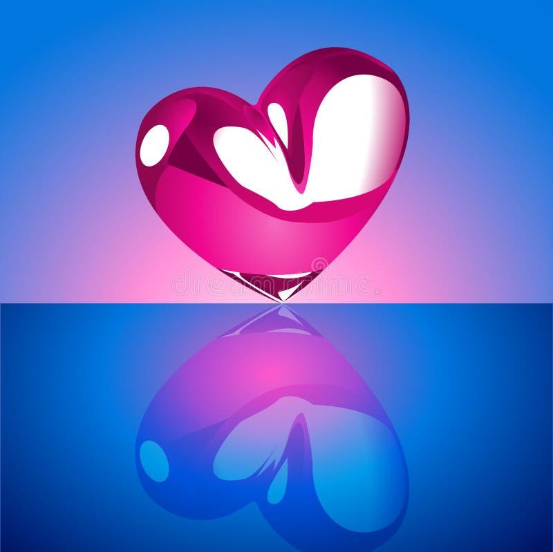 blå kromhjärta för bakgrund stock illustrationer