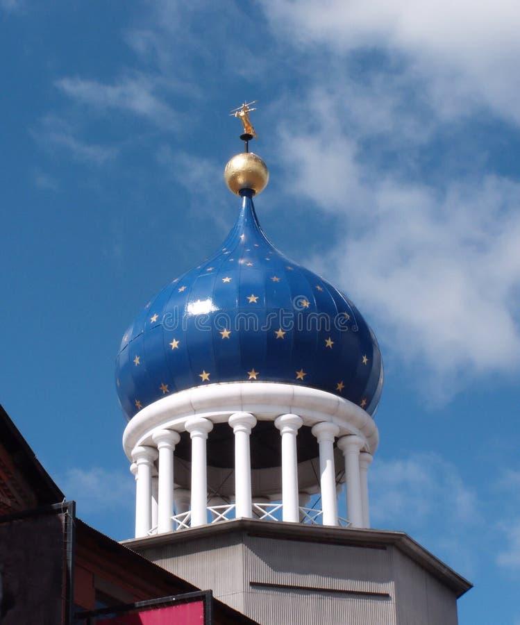 blå kupol arkivfoton