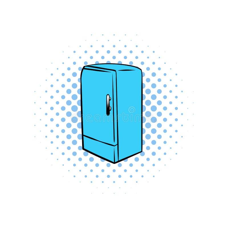 Blå kylkomikersymbol stock illustrationer