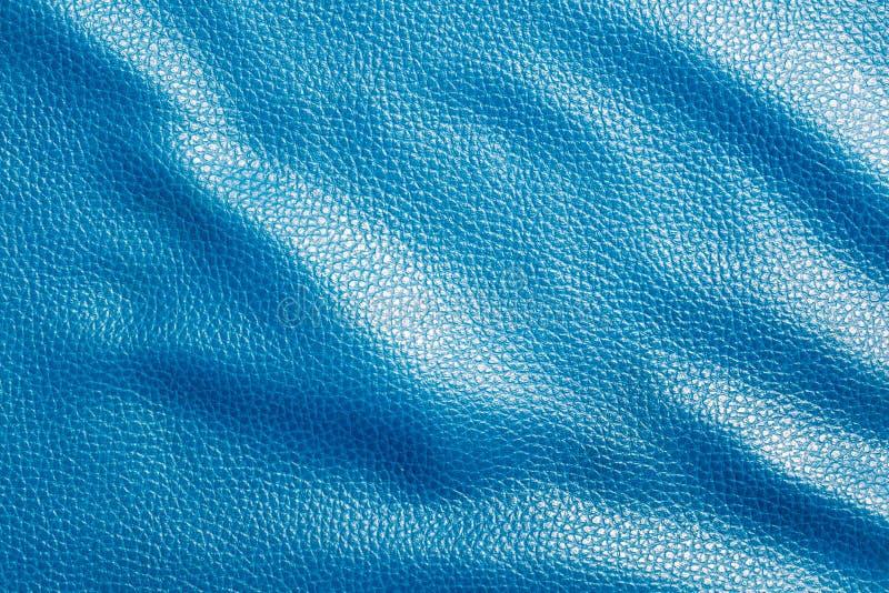 blå lädertextur royaltyfri foto