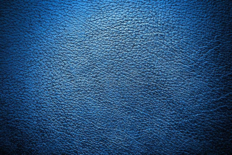 Blå lädertextur, bakgrunder arkivfoton