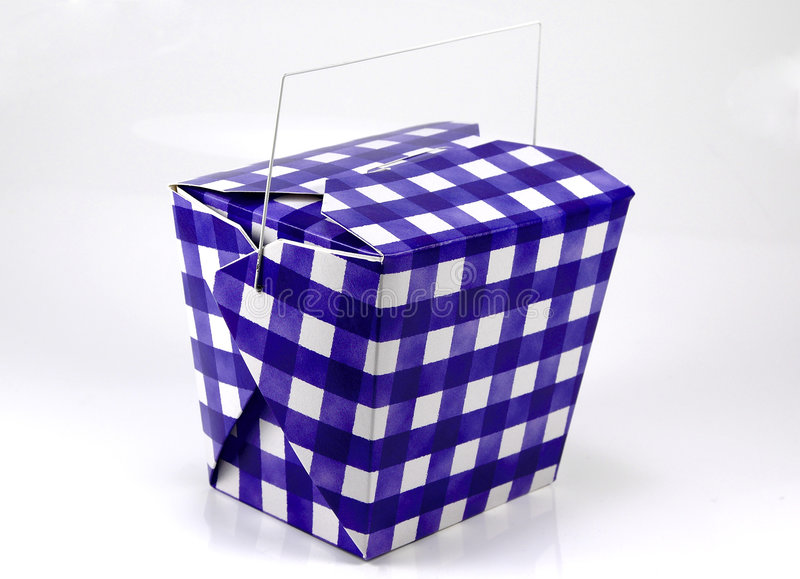 blå lådawhite royaltyfri fotografi