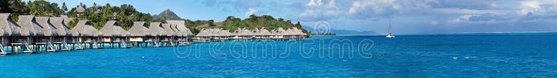blå lagun Polynesien panorama royaltyfri foto