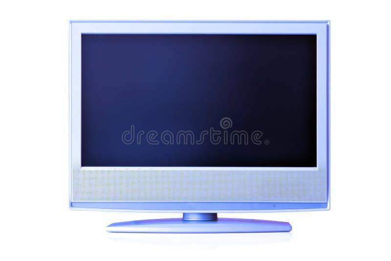 blå lcd-tv arkivfoto