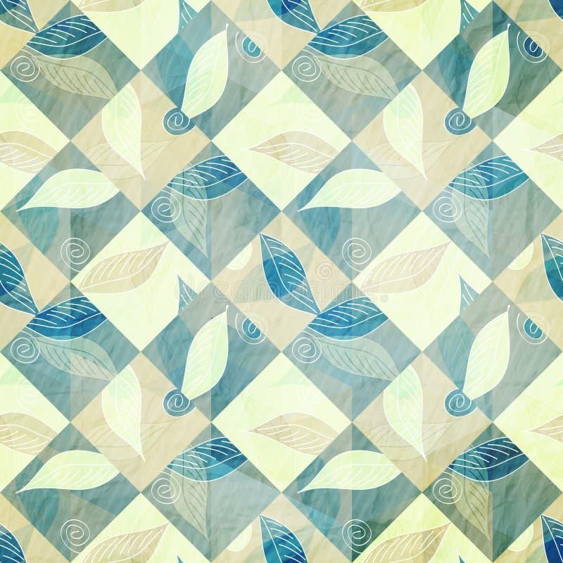 blå leaf royaltyfri illustrationer