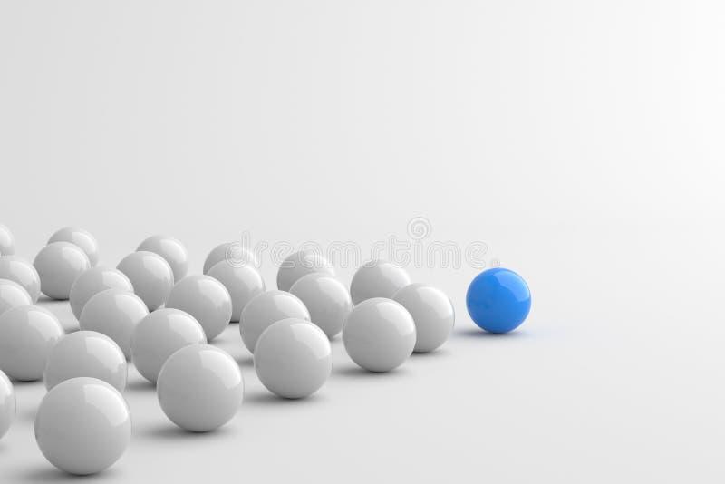 Blå ledareboll vektor illustrationer