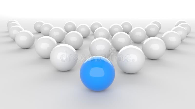 Blå ledareboll stock illustrationer