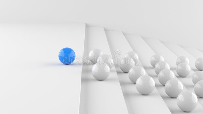 Blå ledareboll royaltyfri illustrationer