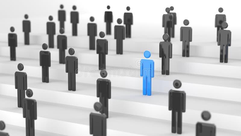 Blå ledareman stock illustrationer