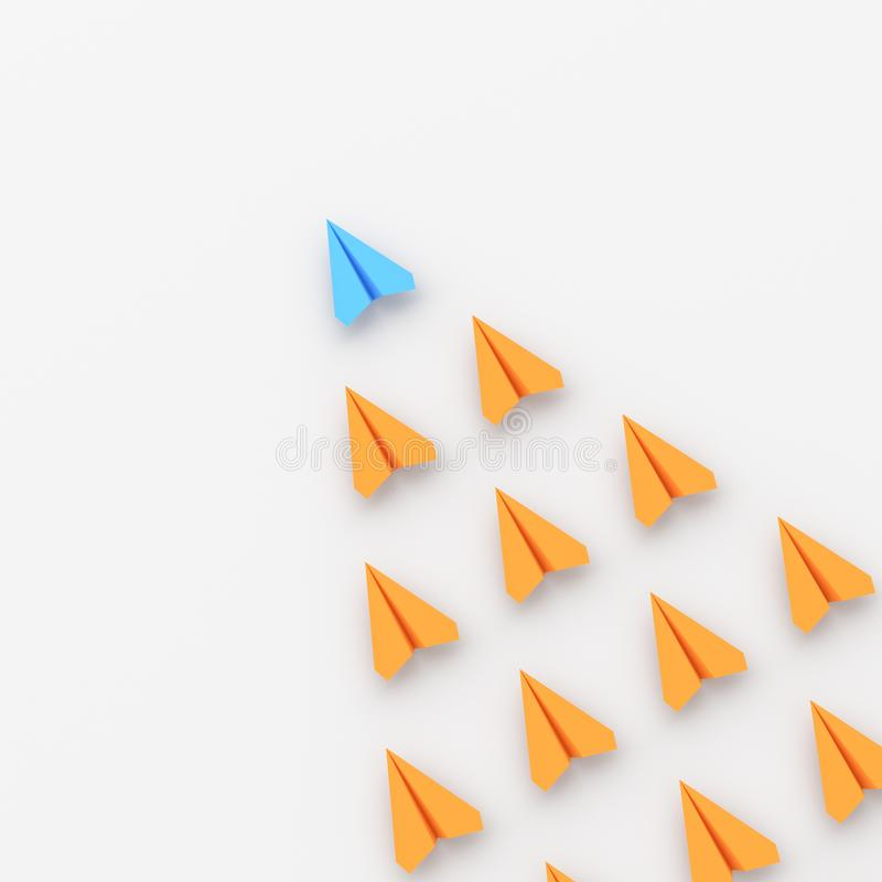 Blå ledarenivå vektor illustrationer