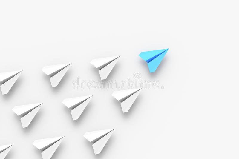 Blå ledarenivå royaltyfri illustrationer