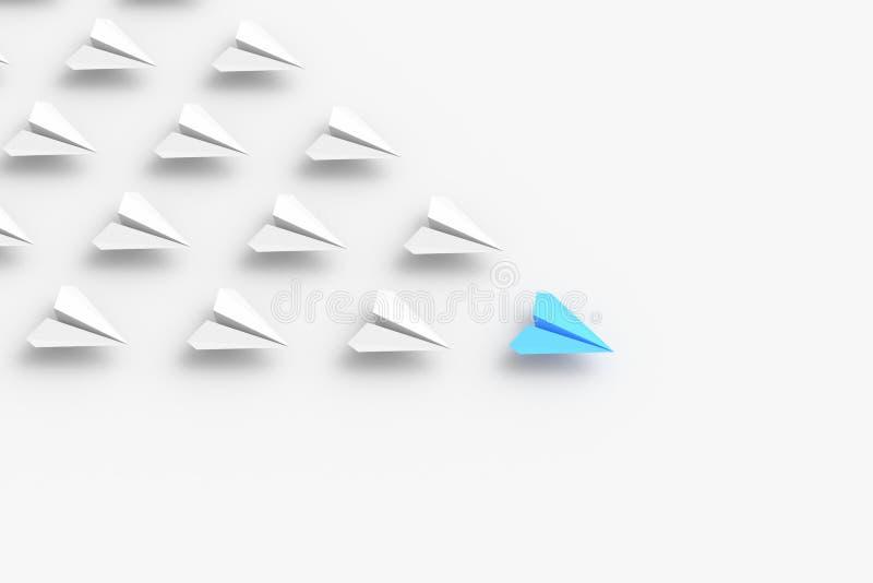 Blå ledarenivå stock illustrationer
