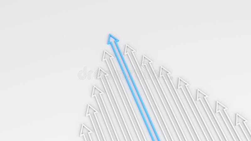 Blå ledarepil vektor illustrationer