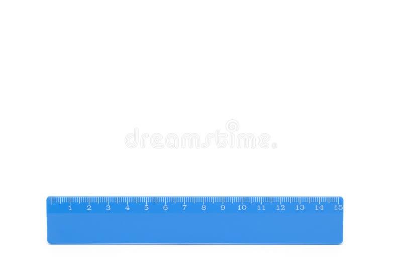 blå linjal arkivfoto