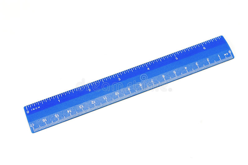 blå linjal arkivbild