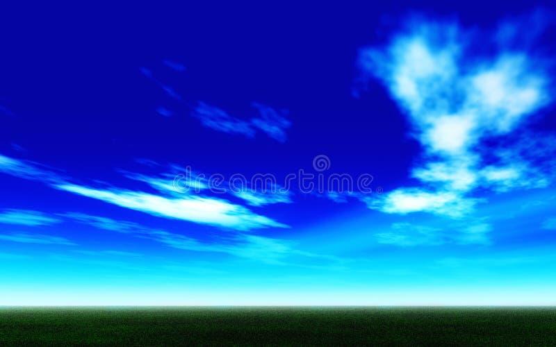 blå ljus säsongskysommar royaltyfri illustrationer