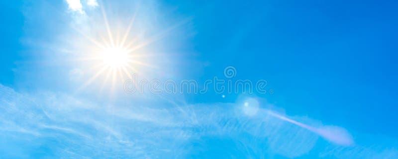 blå ljus skysun fotografering för bildbyråer