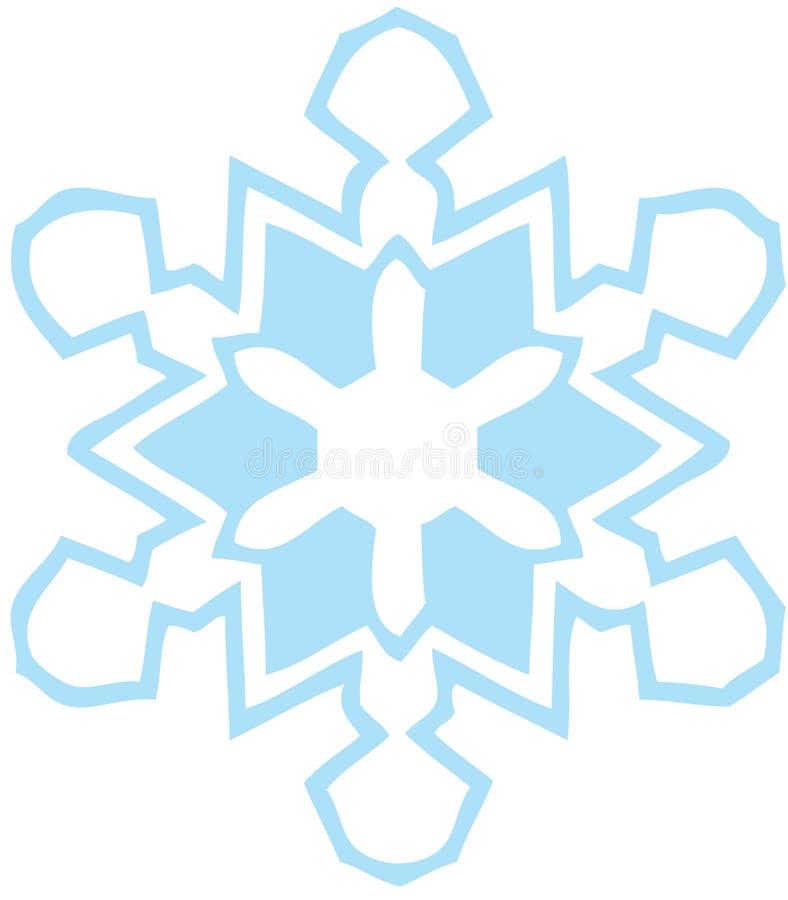 blå ljus snowflake stock illustrationer