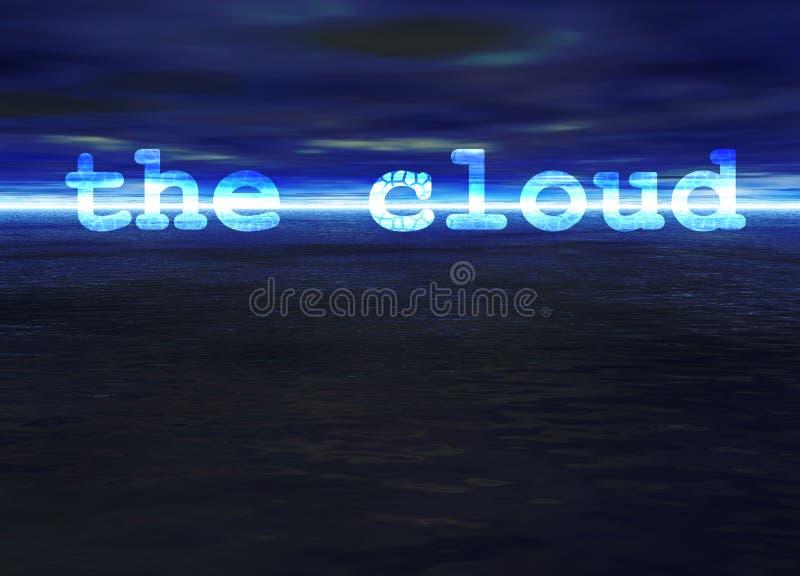 blå ljus text för hav för oklarhetshorisonthav vektor illustrationer