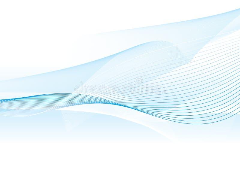 blå ljus wave vektor illustrationer