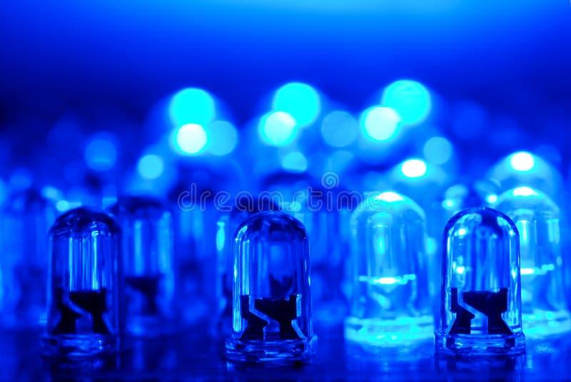 blå ljusdiod royaltyfri fotografi