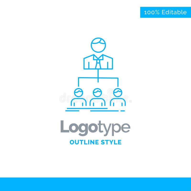 Blå logodesign för lag, teamwork, organisation, grupp som är compan vektor illustrationer