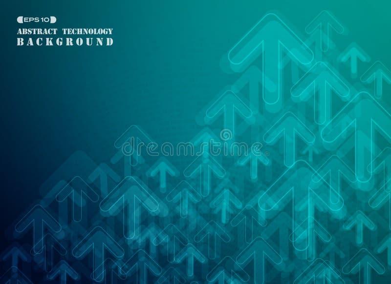 Blå lutning av den futuristiska affärsbackgroen för vertikal teknologi royaltyfria foton