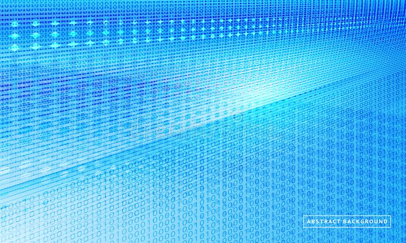 Blå lutningbakgrund för halvton Abstrakt stor datavisualization för vektor royaltyfri illustrationer