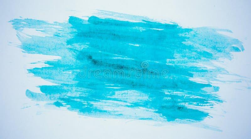 Blå målarfärg på papper royaltyfri foto