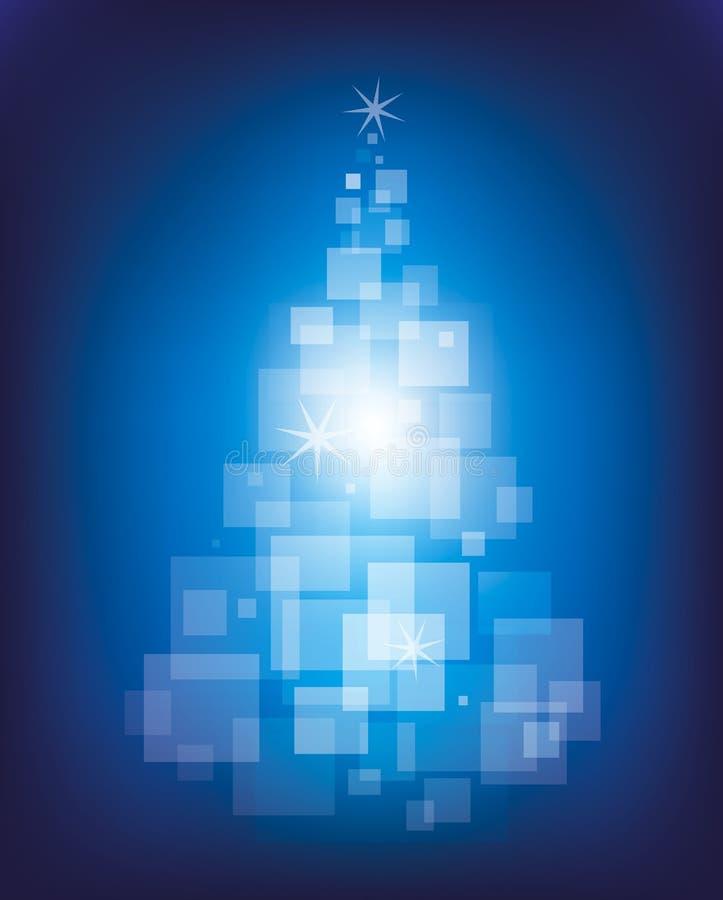 Blå magisk julgran vektor illustrationer