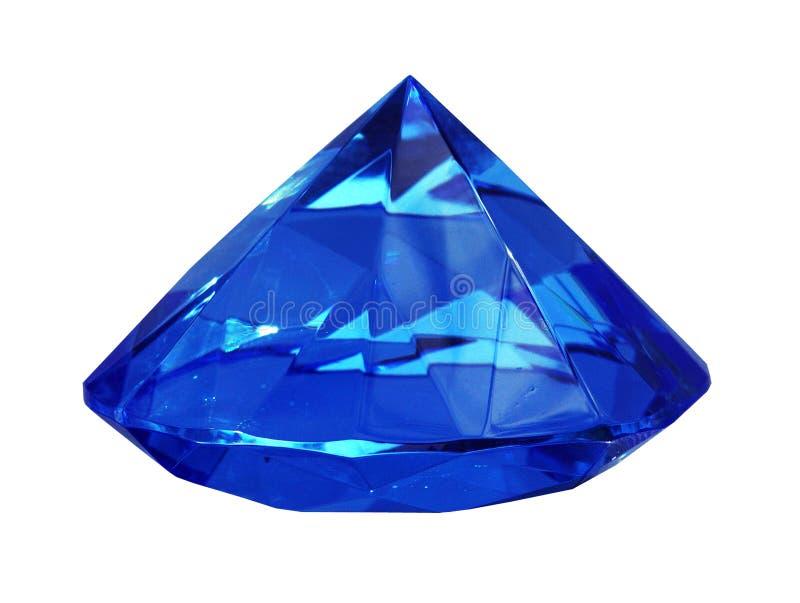 blå magisk pyramid arkivfoto
