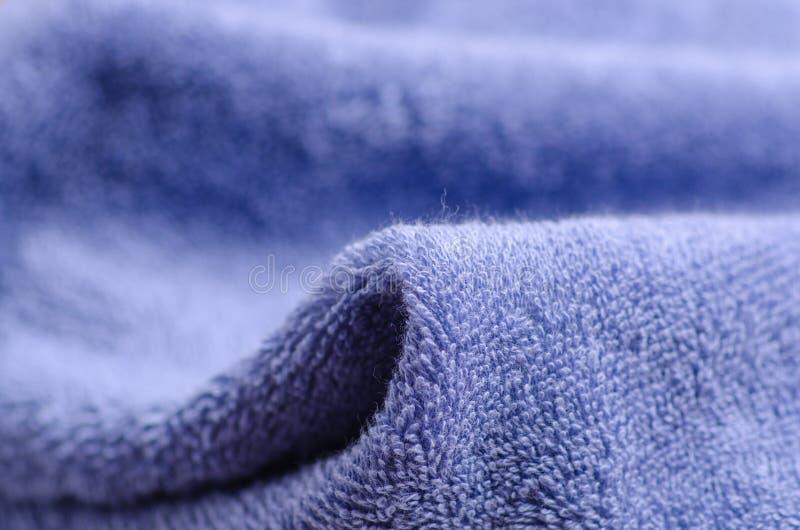 blå makrohandduk royaltyfri bild