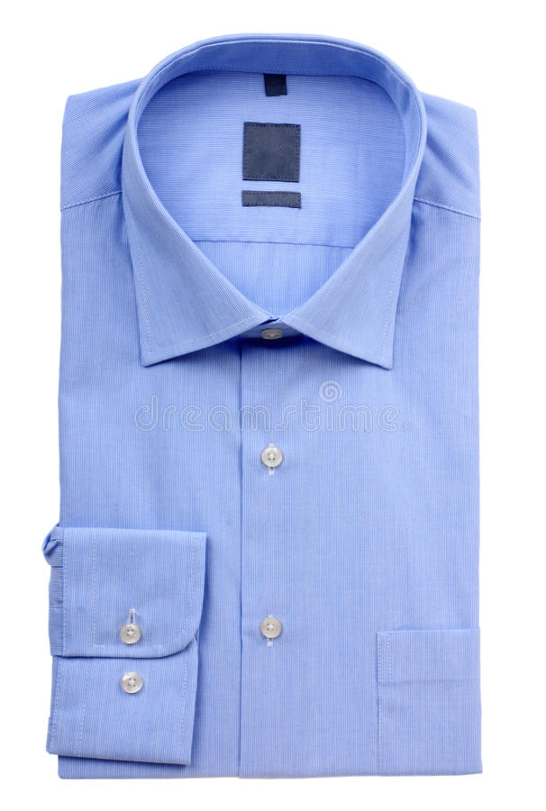 Blå mans skjorta royaltyfri bild