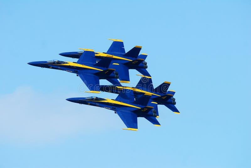 blå marin för änglar oss royaltyfri foto