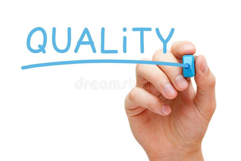 Blå markör för kvalitet royaltyfri foto
