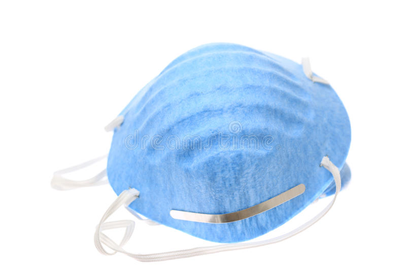 blå maskering royaltyfri fotografi