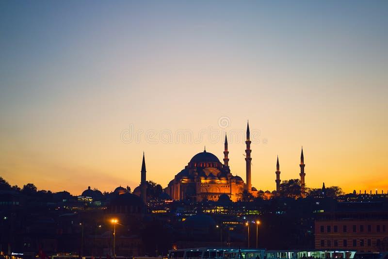Blå masque i Istanbul royaltyfria bilder