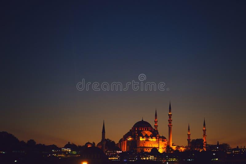 Blå masque i Istanbul royaltyfri foto