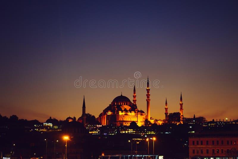 Blå masque i Istanbul royaltyfri bild