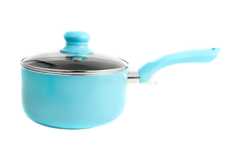 blå matlagningkruka arkivfoto