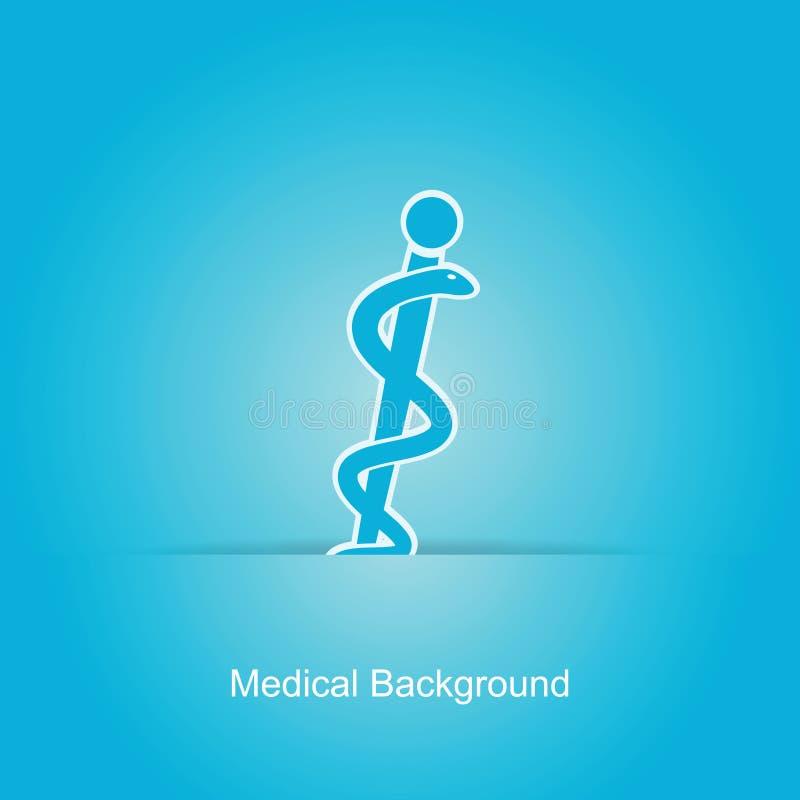 Blå medicinsk bakgrund stock illustrationer