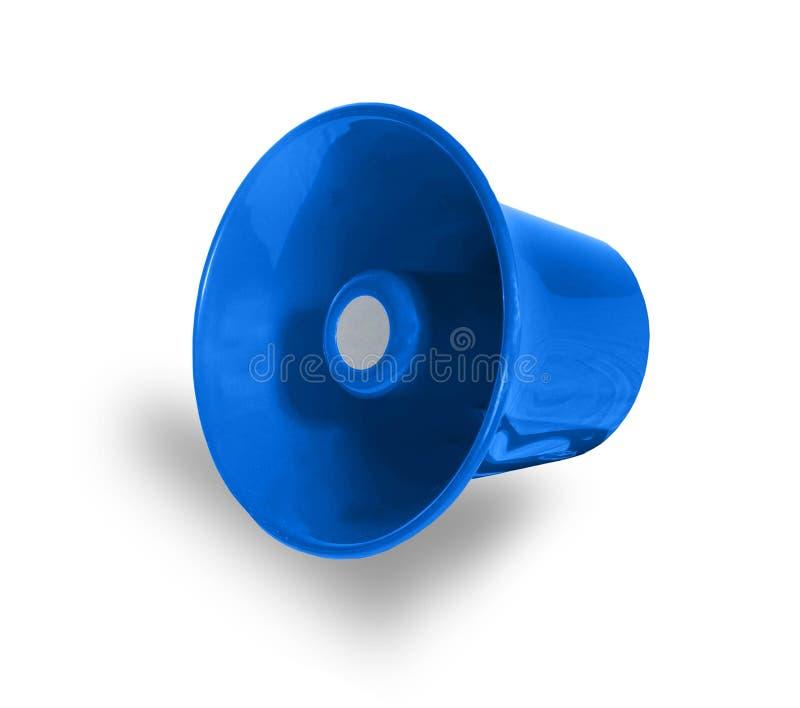 blå megafon royaltyfria foton
