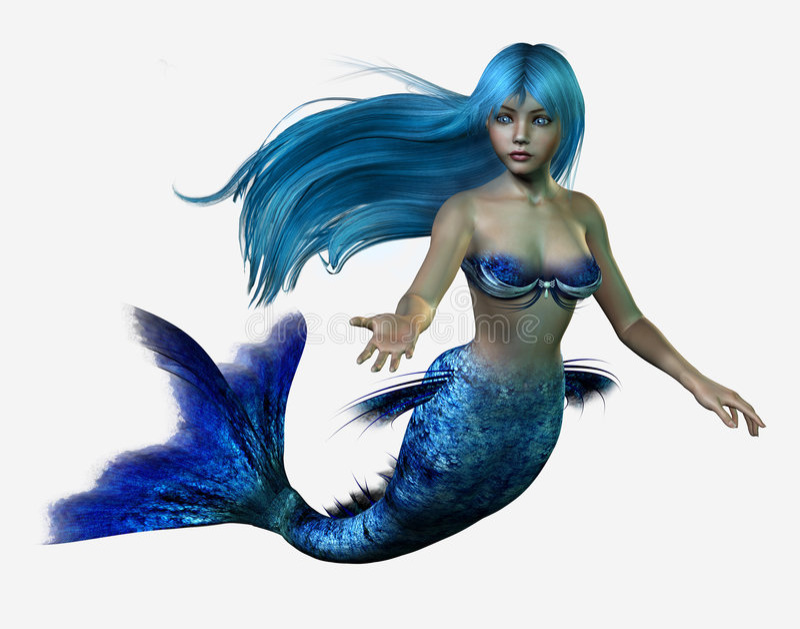 blå mermaid stock illustrationer