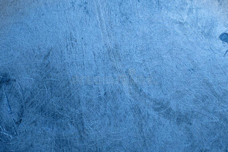 Blå metalline hued brädetextur för design - nätt abstrakt fotobakgrund arkivfoto