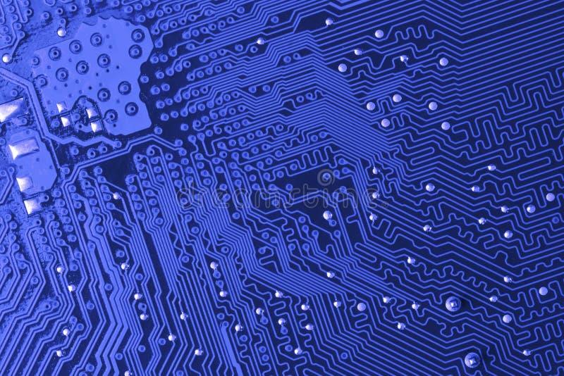 blå microcircuit arkivbilder