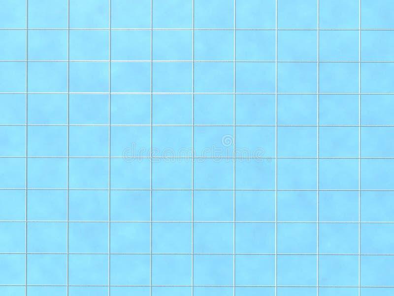 Blå modell för keramisk tegelplatta royaltyfri bild