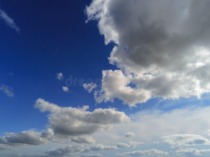 Blå molntäckesbakgrund royaltyfria bilder
