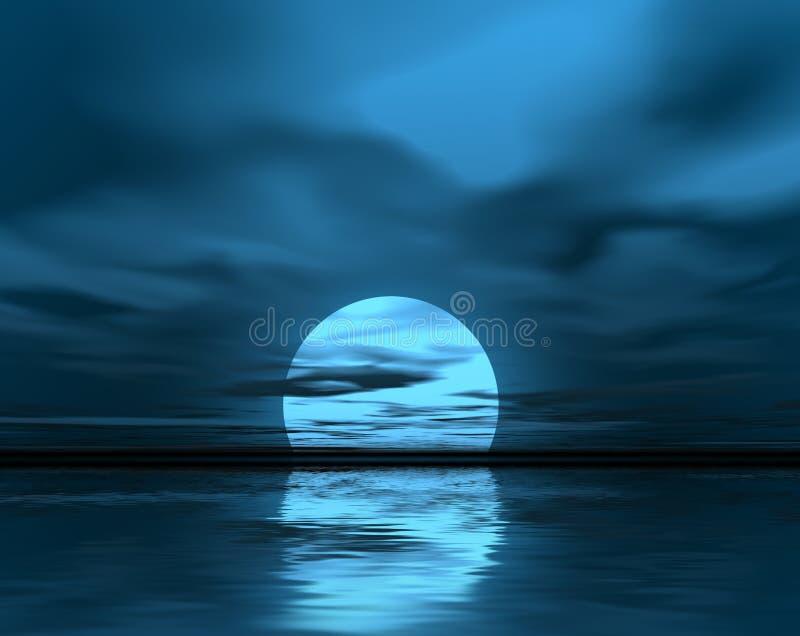 blå moon vektor illustrationer